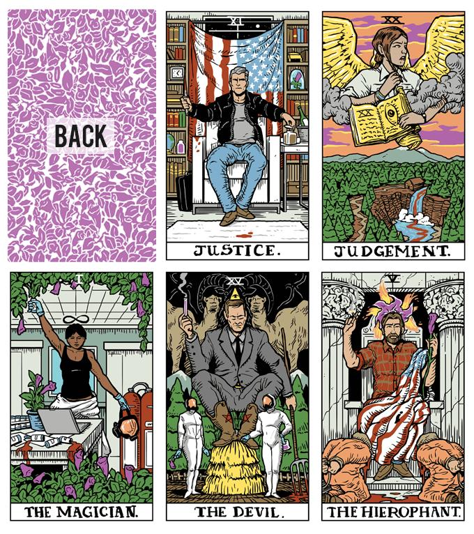 Tarot cards by Benjamin Mackey