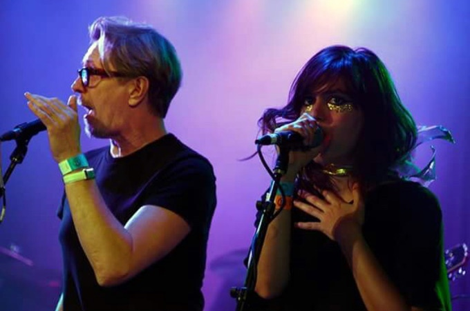 omniflux performing with Gary Oldman, at a David Bowie tribute concert