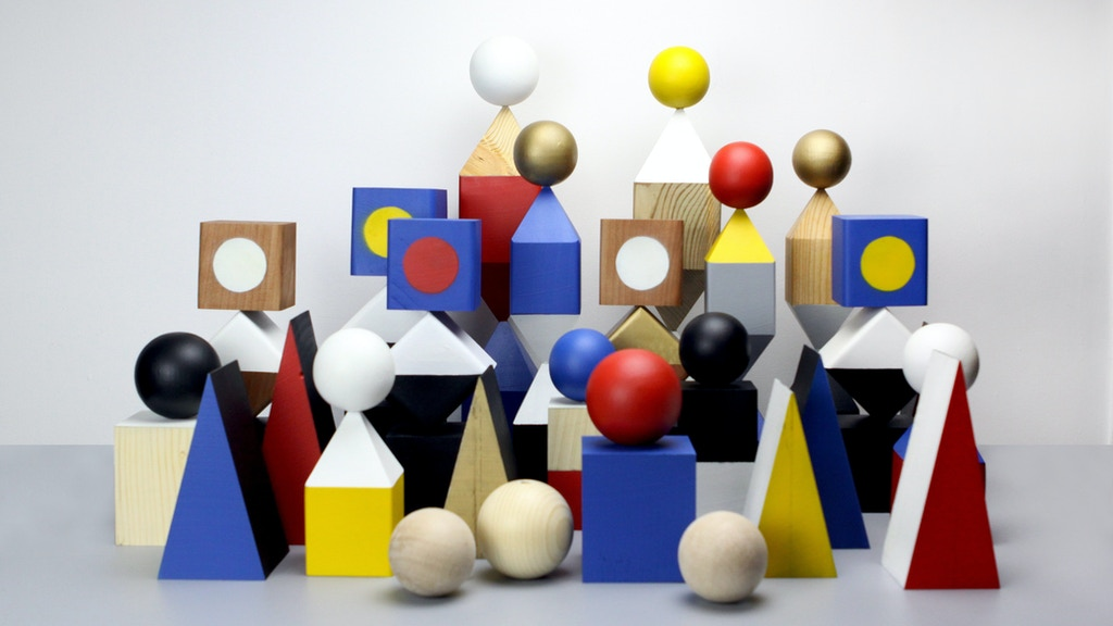 Objekts - a collection of geometric wooden sculptures miniatura de video del proyecto