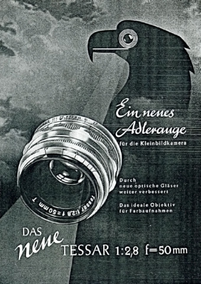 "Historic advertisement of the ""Eagle Eye Lens"
