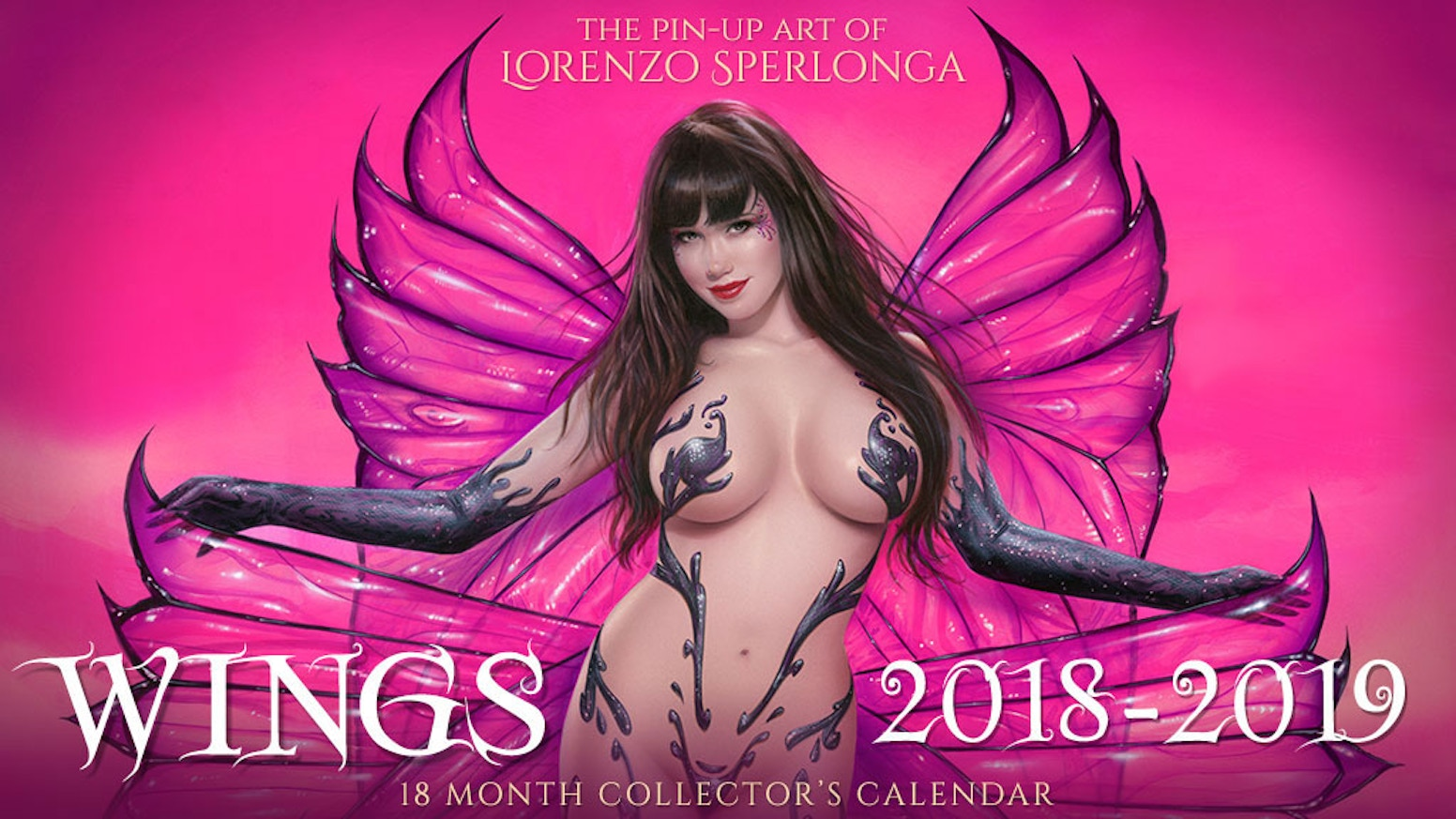 A Pin-Up Art Wall Calendar of Sensual Angels and Provocative Fairies