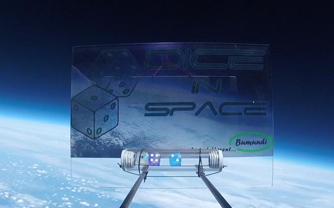 DICE IN SPACE at 33.6 km in the stratosphere (original screenshot)