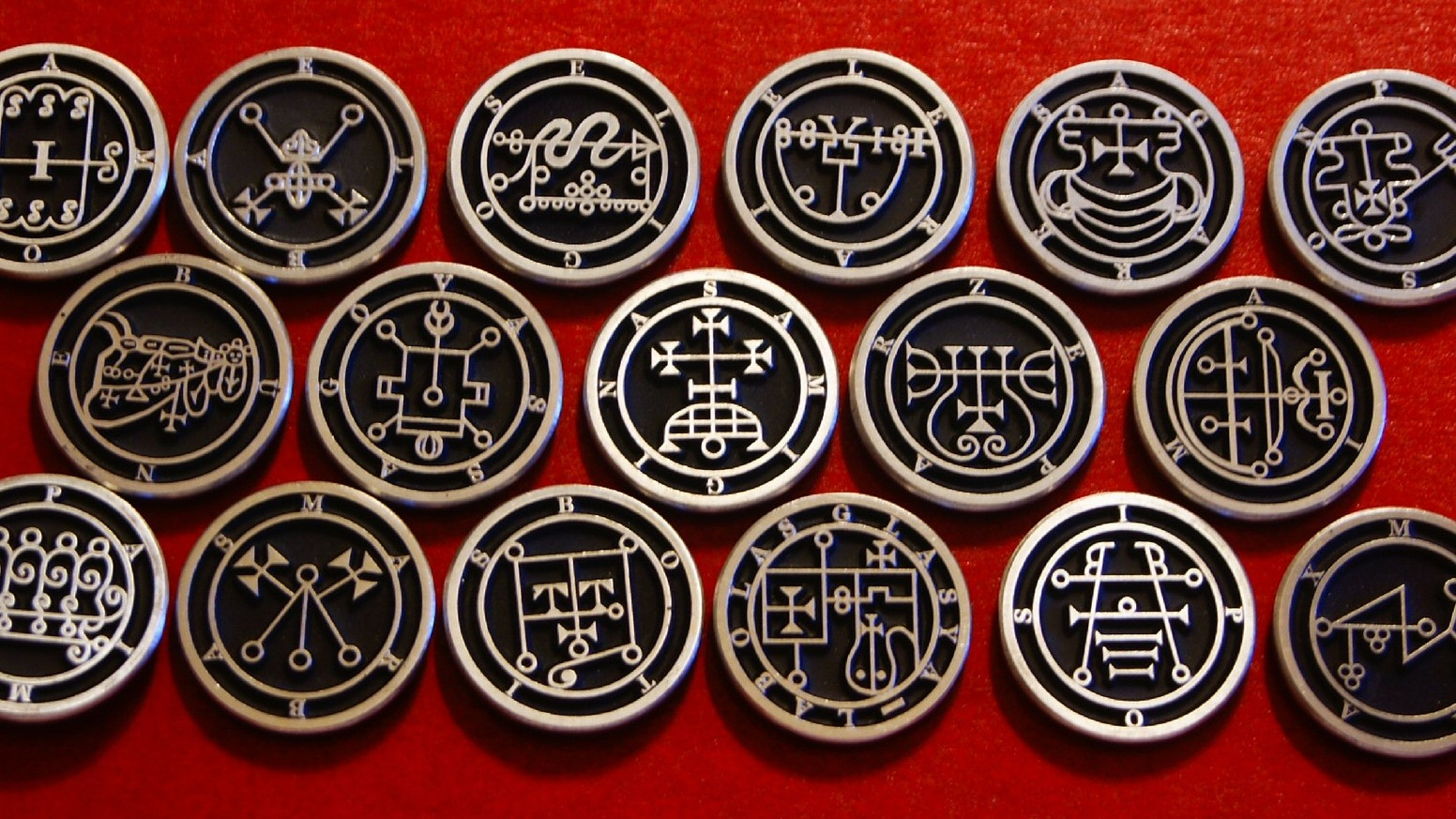Demon Sigil Pins Full 72 Demon set The Lesser Key of Solomon