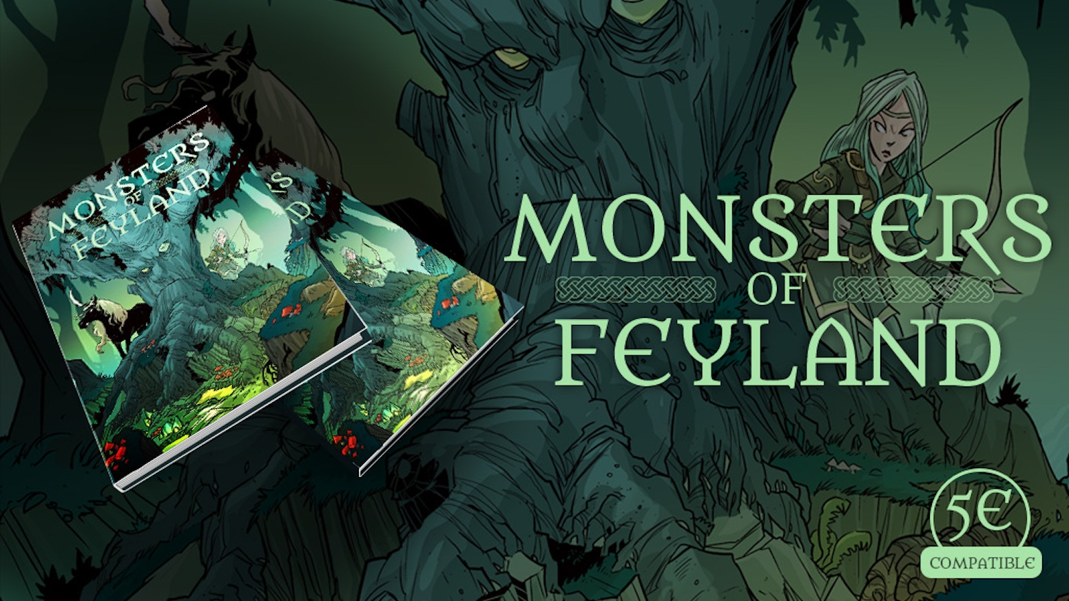 Begin the adventure! Enter the Feyland! Discover 100 new 5E monsters. A full-color, hardcover 5th Edition book.
