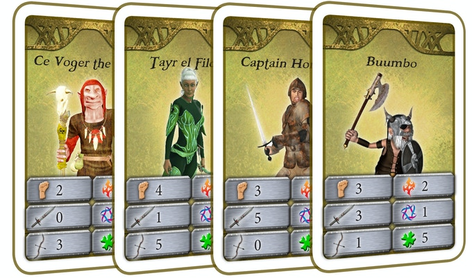 16 Character Cards