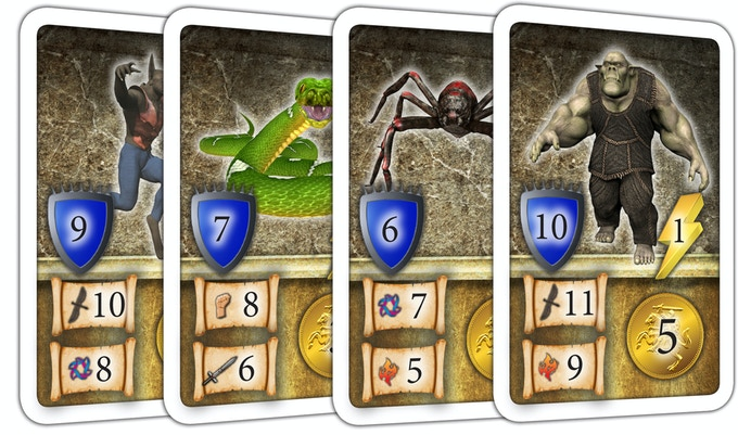 16 Monster Cards