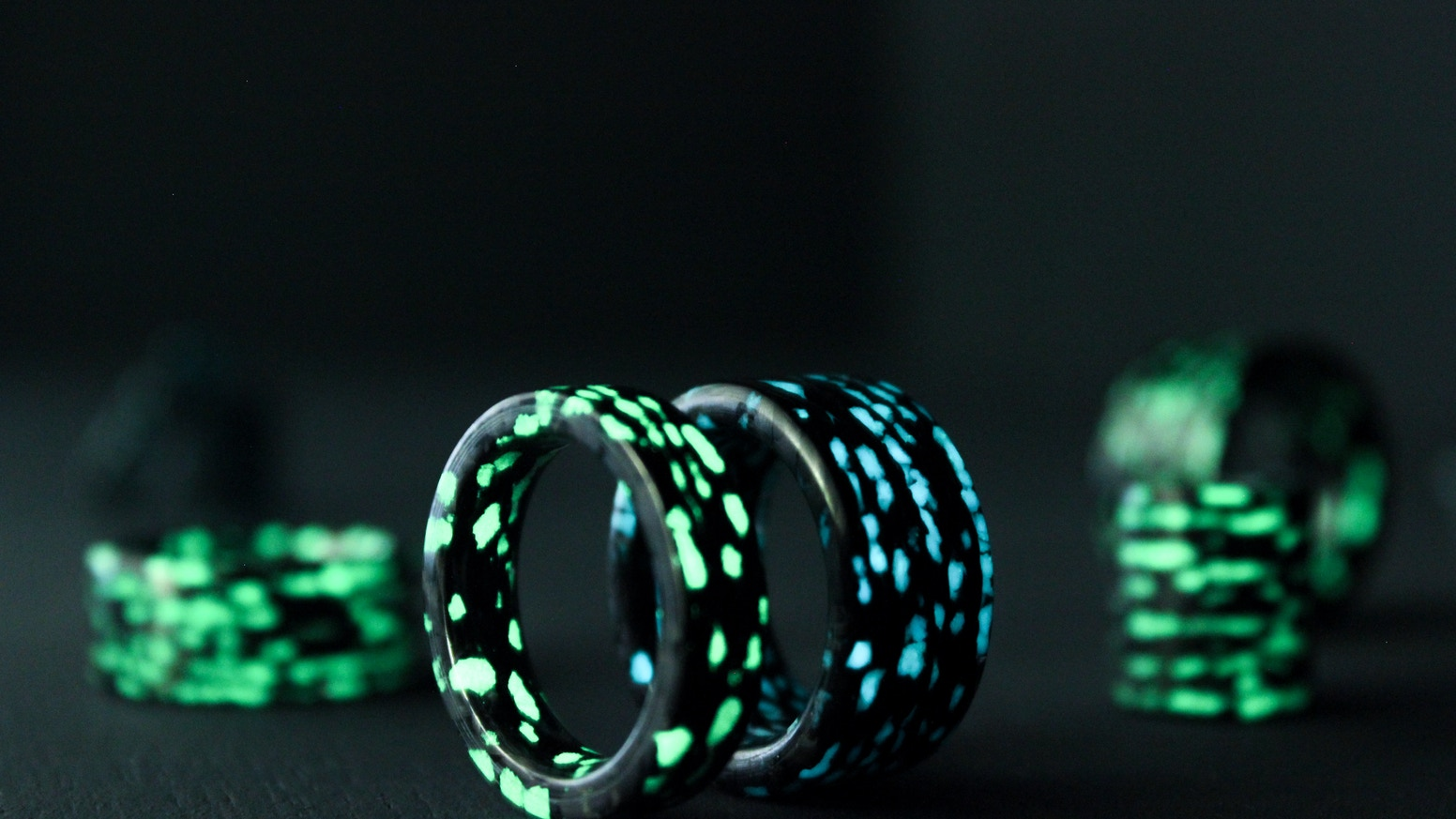 ideas glow ring component in etsy color dark blue rings lume fancy wedding the