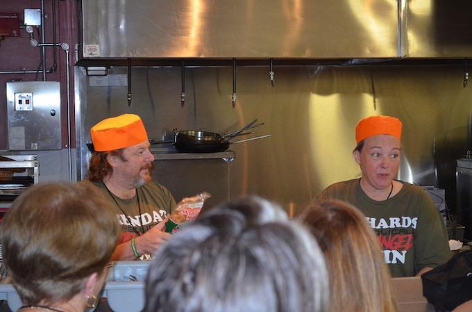 Richard and Brenda making pork rind waffles at Ketofest 2017