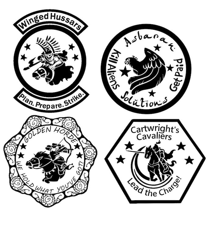 Four Horsemen universe challenge coins by Mark Wandrey