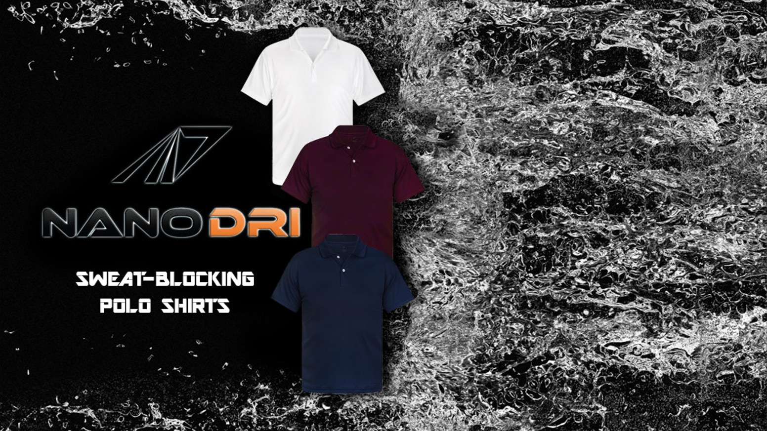 4cdc98cb8e3d Luxurious polo shirts that utilize Japanese nanotechnology to hide your sweat  stains and keep you looking cool