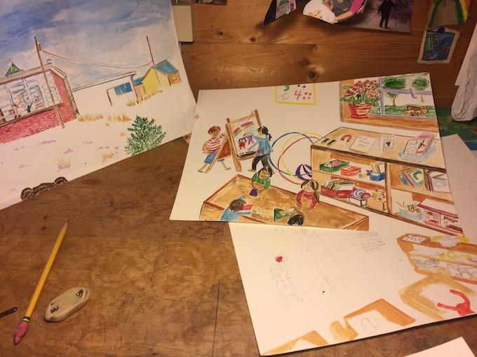 East Glacier Bear Paintings In Progress