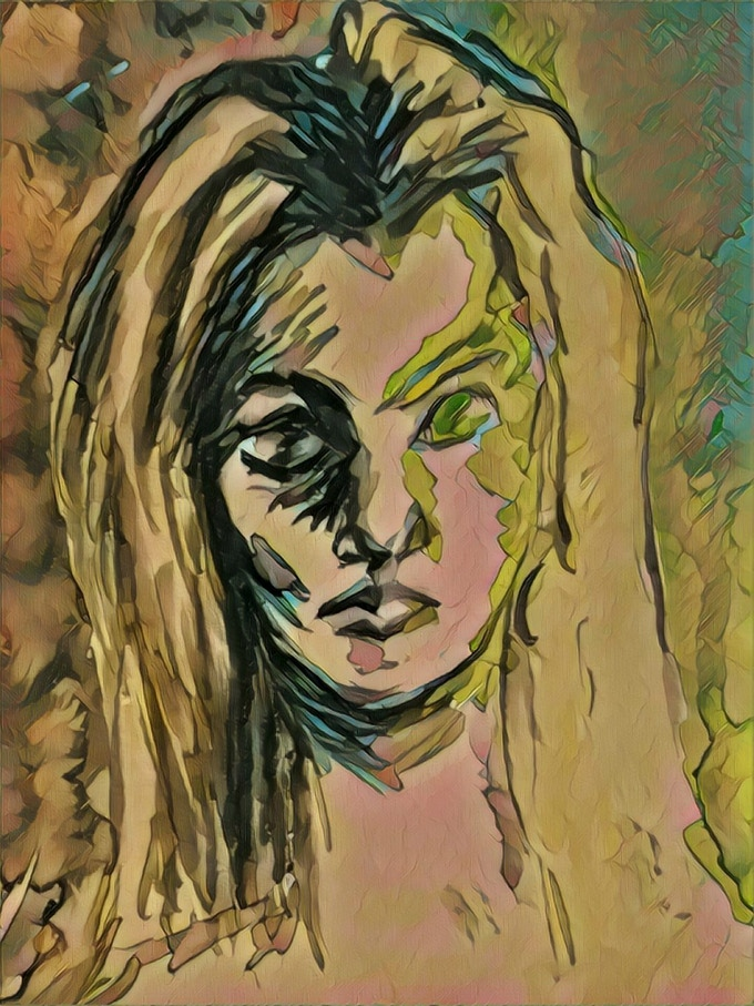 """""""Love and Death: The Goddess Freyja"""". Leah Porter, Watercolor with Digital Effects"""