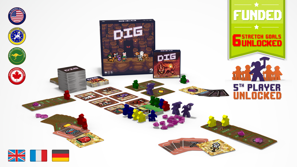 DIG (Second Edition) & DIG: DRAGON! expansion project video thumbnail