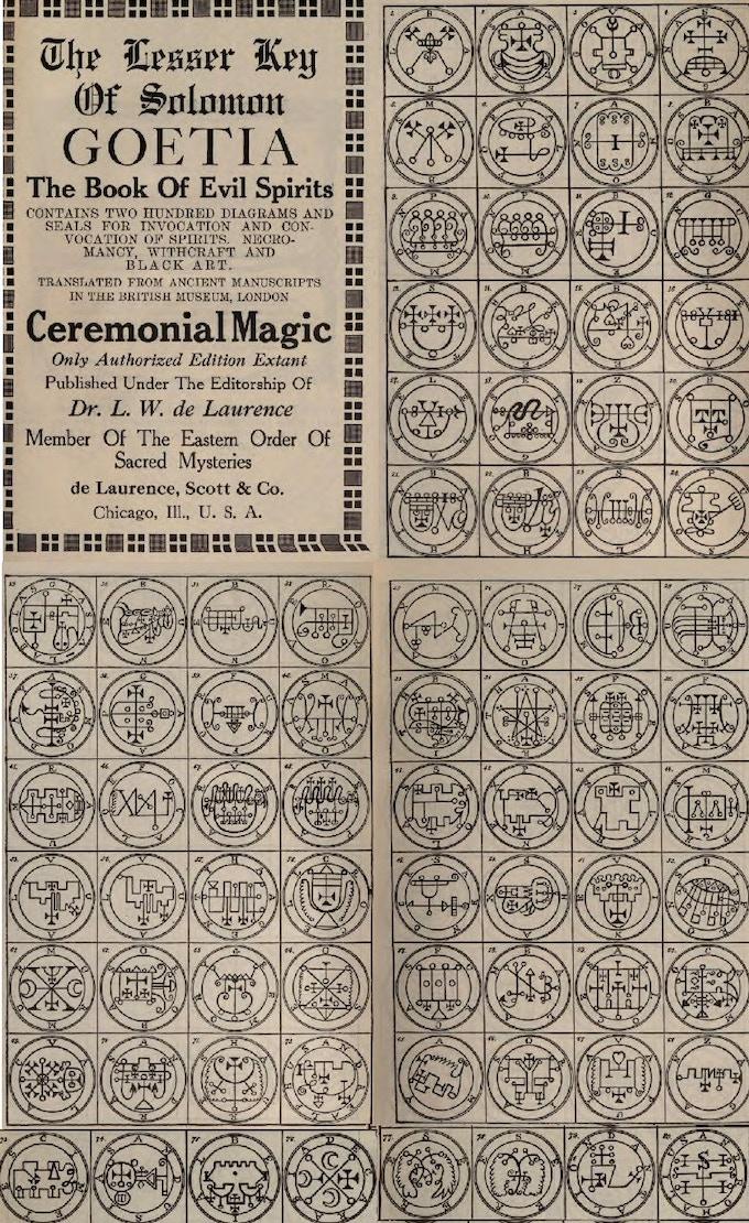 Demon Sigil Pins Full 72 Demon set The Lesser Key of Solomon by