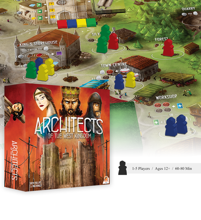 Caja del juego de mesa Architects of the west kingdom