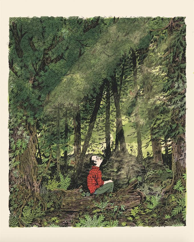 """Noah Van Sciver s/n giclee print, ed. of 50, 16""""x20"""
