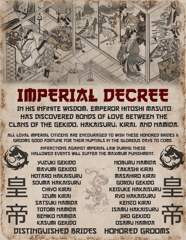Imperial Matchmaker Weddings Decree