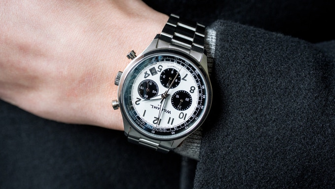 Automatic Chronograph 'Panda' with Solid Bracelet