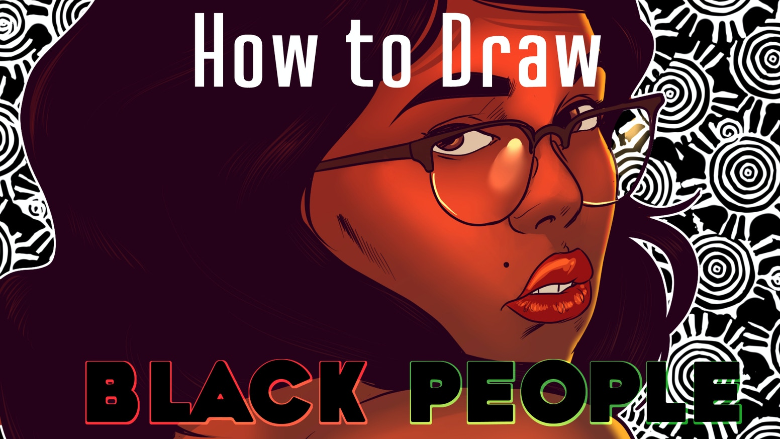 An instructional book on how to draw black people that covers phenotype, body diversity, costuming and cultural identity for artists.