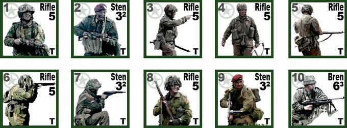 British Paratrooper Infantry Counters