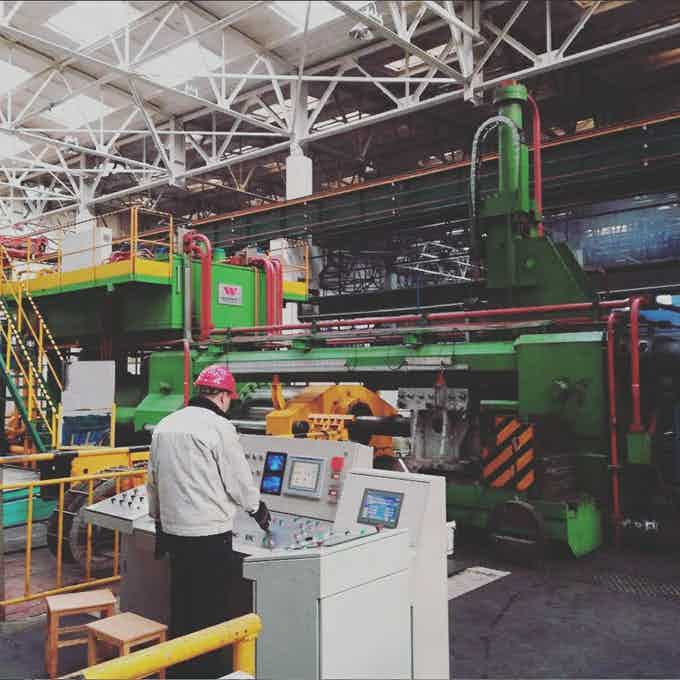 This is the factory and machine that will be making our frame's aluminum extrusion.