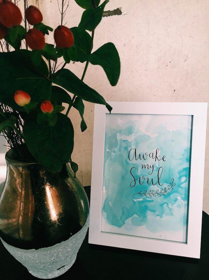 """Awake My Soul"" print"