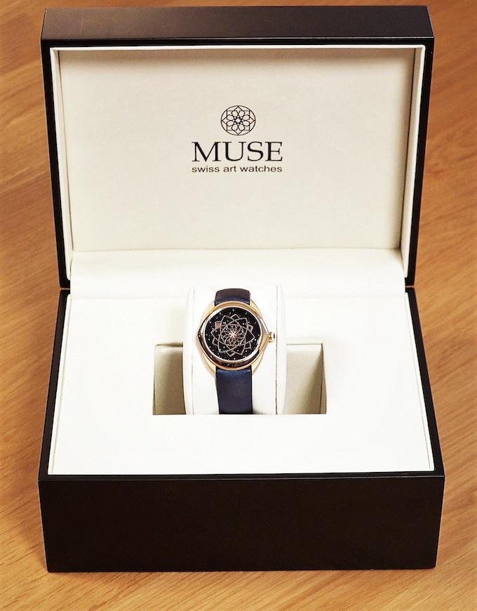 Ecrin Muse Swiss Art watches et STELLA - pink gold - 37mm