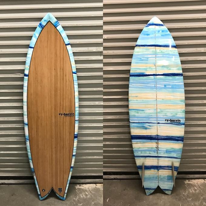 The Sidecut Fish w custom Resin Tint/Veneer Deck/Glass on Keels