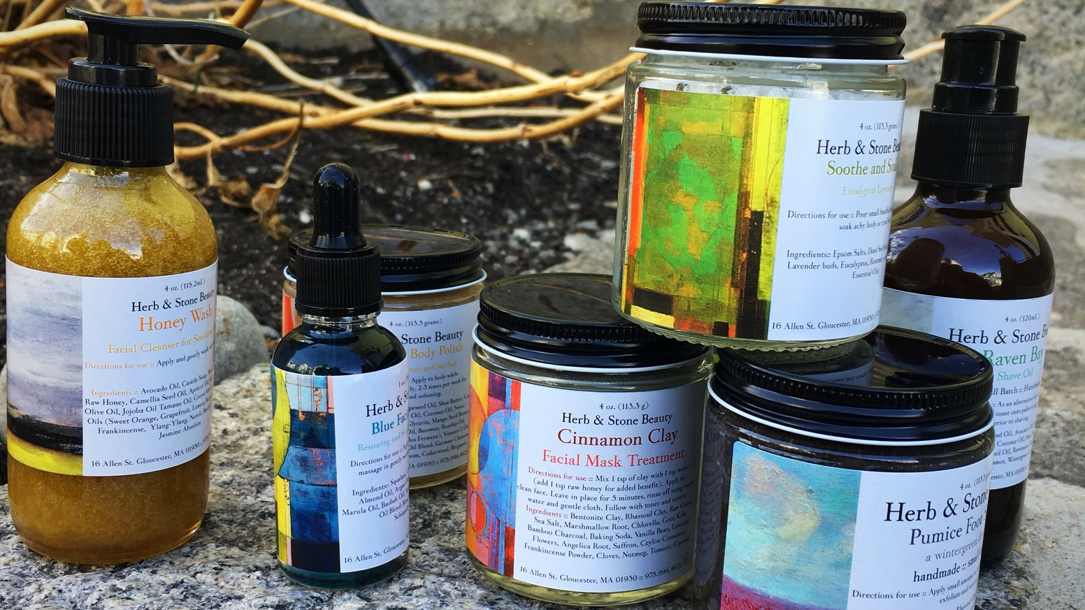 Herb & Stone Beauty: Artful, handmade natural cosmetics by Kathleen