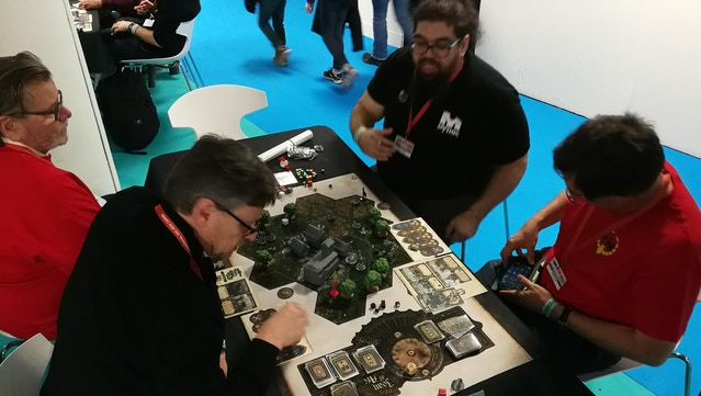 We had two different tables for the Werewolf scenario. With beginners, the Werewolf tends to win more than the Knight. Once you know the game, the Knight wins slightly more than the Werewolf