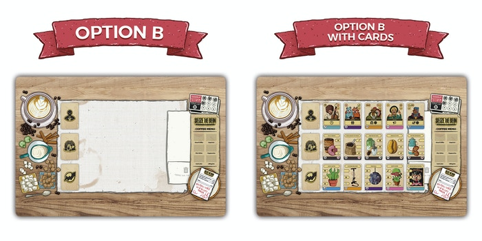 Option B: a classy wood table design (also based on backer ideas!)