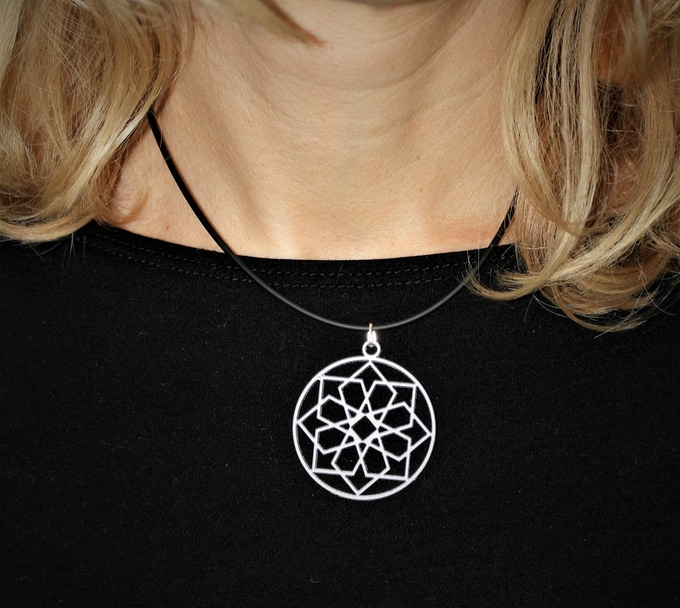 MUSE Art jewelry - Silver necklace 38