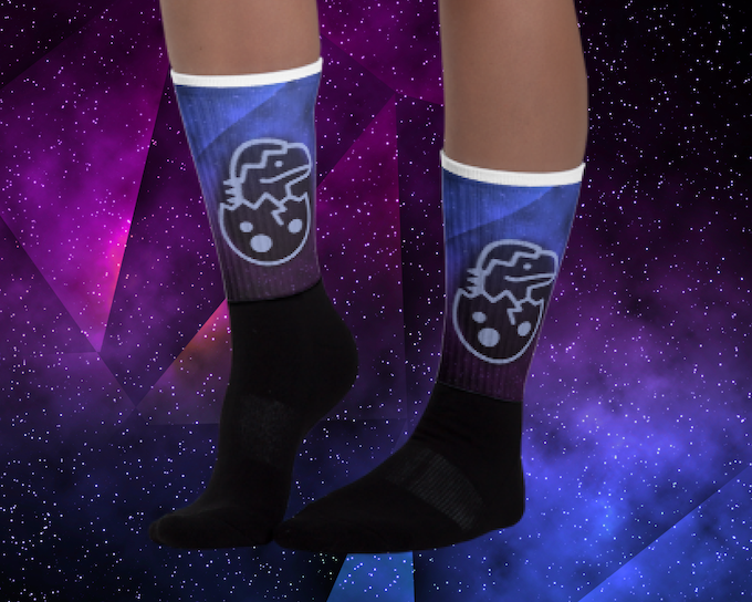 With the order of a coffee mug, or pair of socks, you'll be able to choose all characters printed on your item, or have your favorite character to bring along with you!