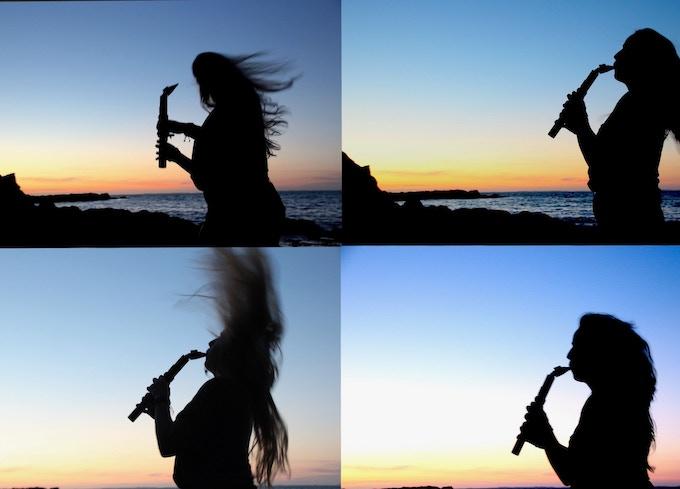 sunset saxmonica