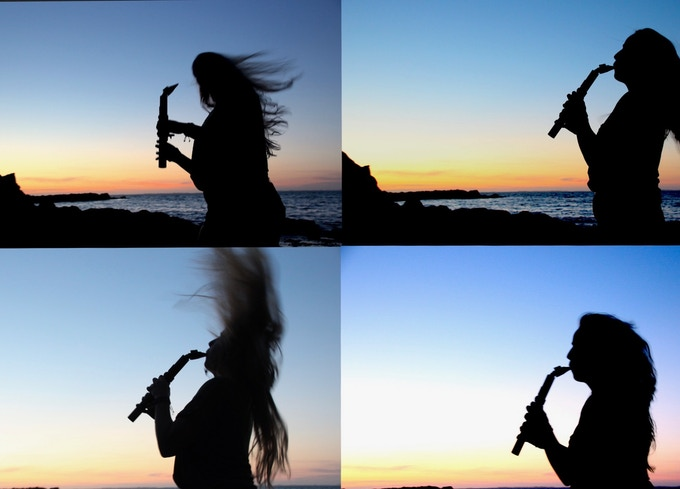 sunset saxmonica
