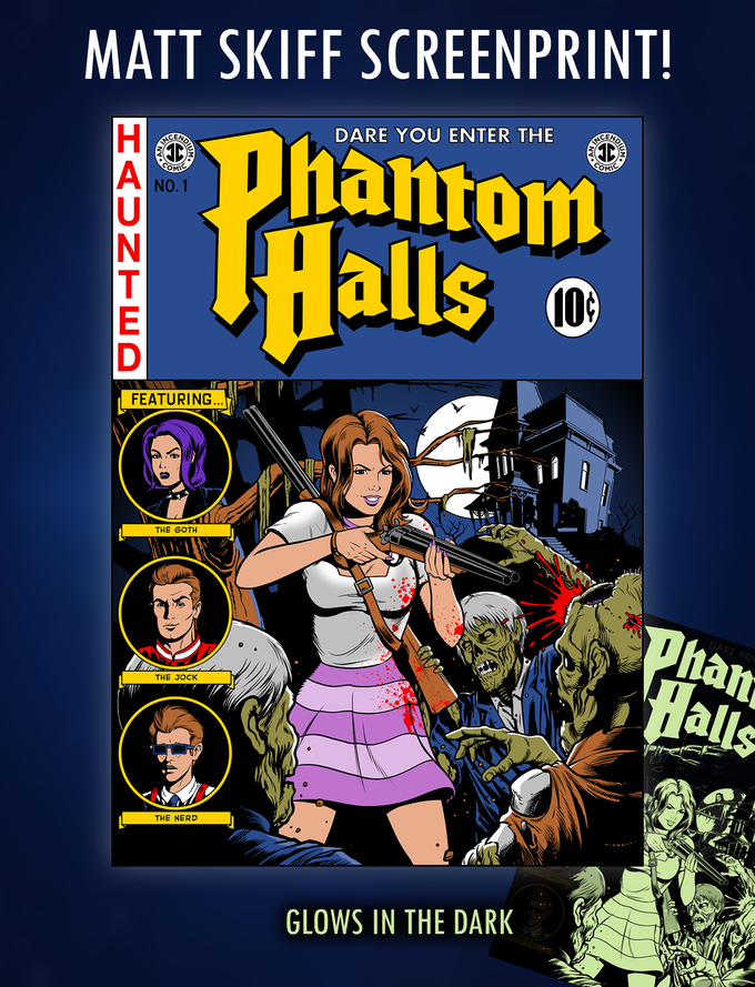 A glowing tribute to EC Horror comics by Matt Skiff!
