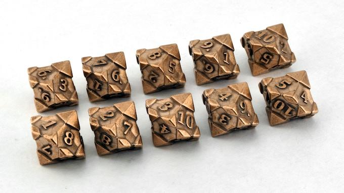 10-die Polyhedral set: 10d10