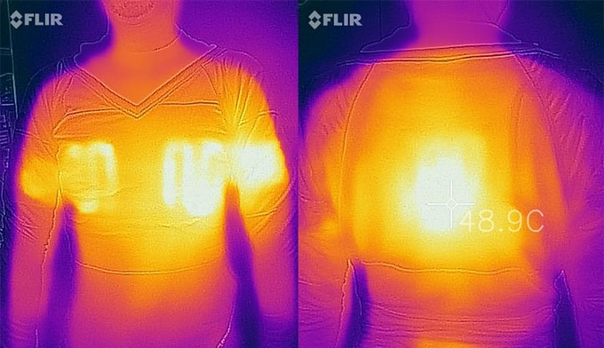 Unaltered Thermographic images of the CyberWarmer