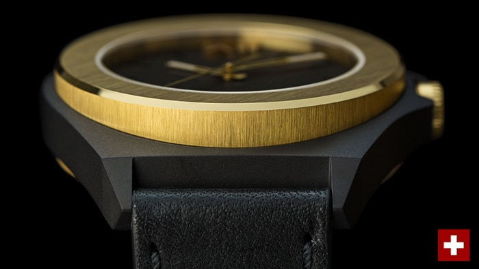 Swiss Made / American Designed.  Premium watch brand inspired by the urban environment, modern aesthetics and industrial elements