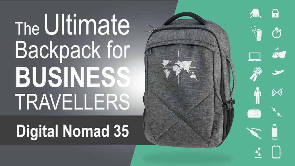 Digital Nomad 35 - Ultimate Backpack for Business Travellers project video thumbnail