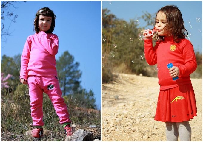 organic joggers and organic skirt