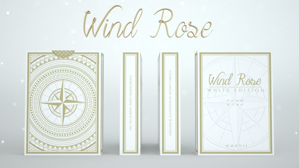 Project image for WIND ROSE Playing Cards - White Edition