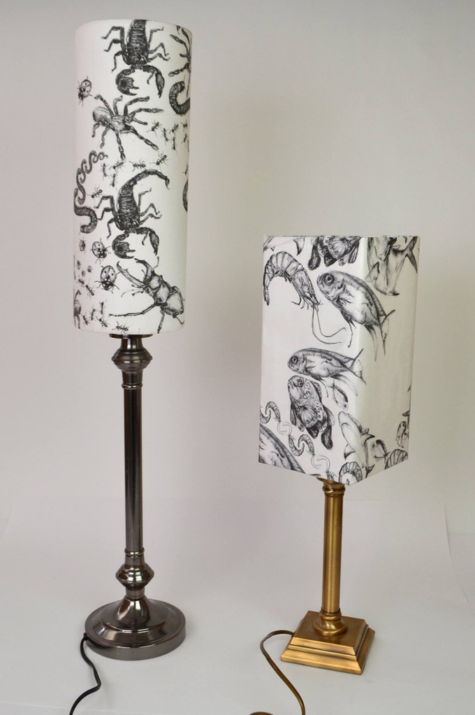 Lampshades after a year and a half of people telling how beautiful they were and that i should try selling them i finally decided that is what i was