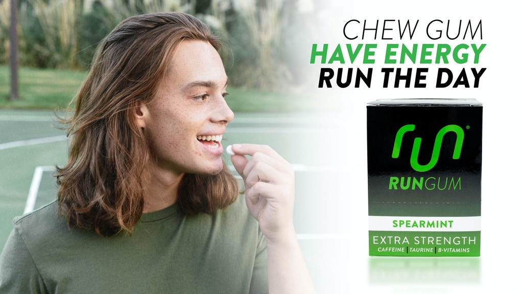 Run Gum— Extra Strength Caffeine Gum to Run The Day project video thumbnail