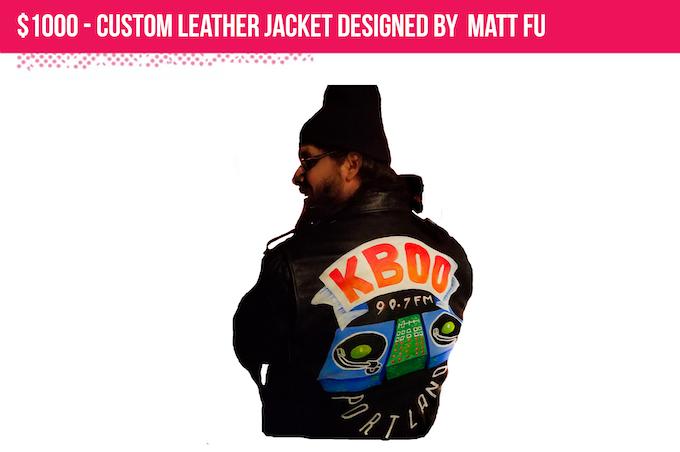 Custom leather jacket by Matt Fu