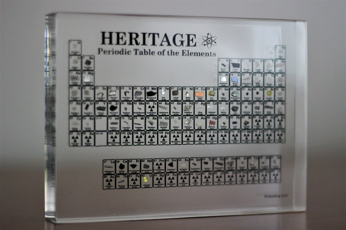 The Heritage Periodic Table ($230.00 Pledge)