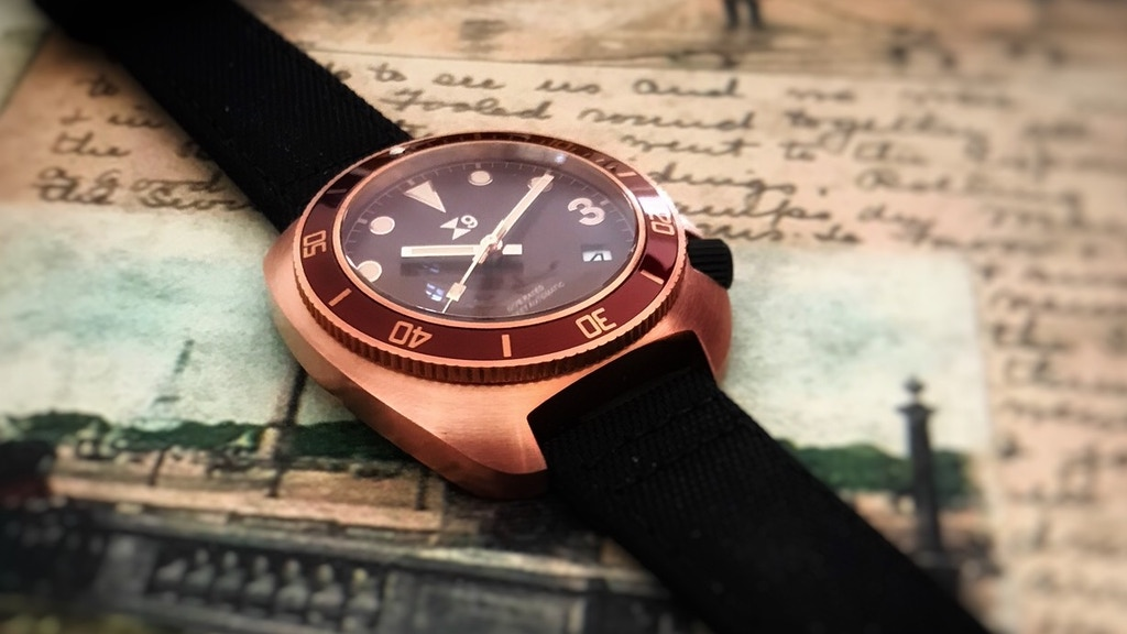 Solid Bronze Divers Watch from TC-9. The 1972 Edition. project video thumbnail