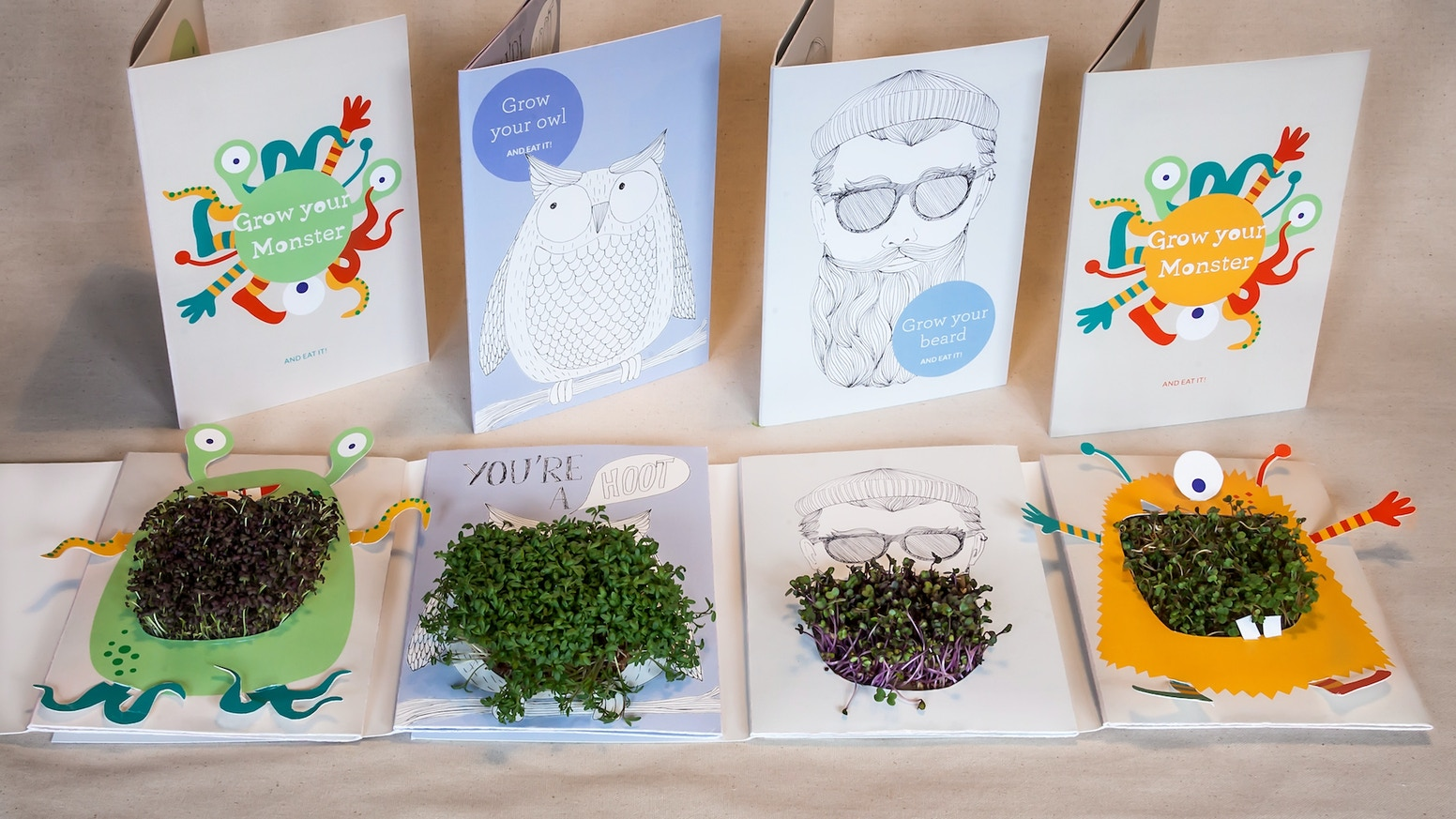 Share the fun of play with nature with your loved ones and send them Growing Greetings: original cards that grow edible microgreens.