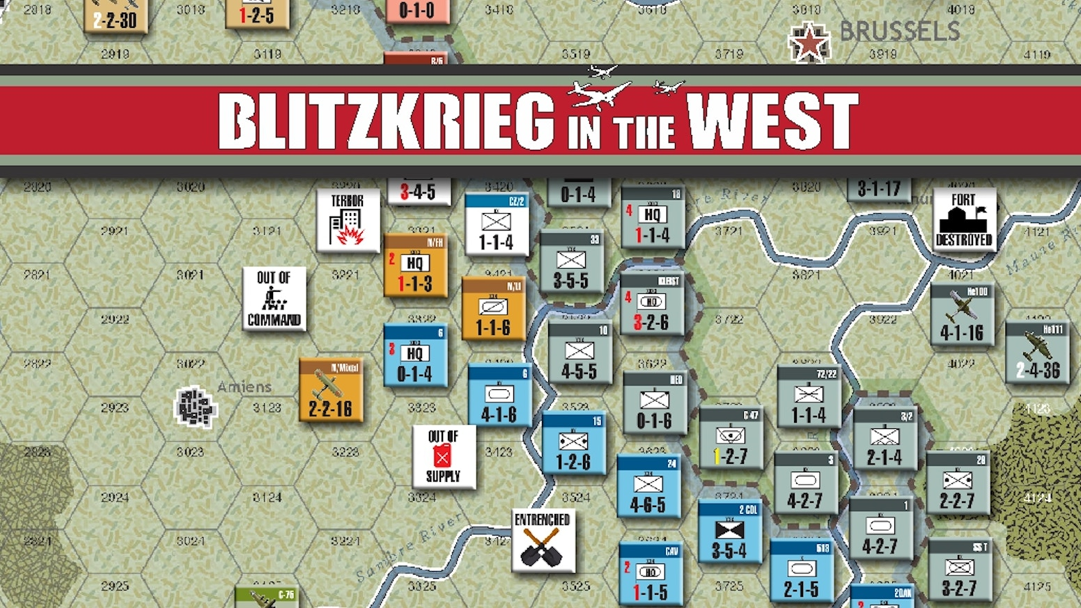 An Historical Board Game of the German Campaign in Western Europe, 1940