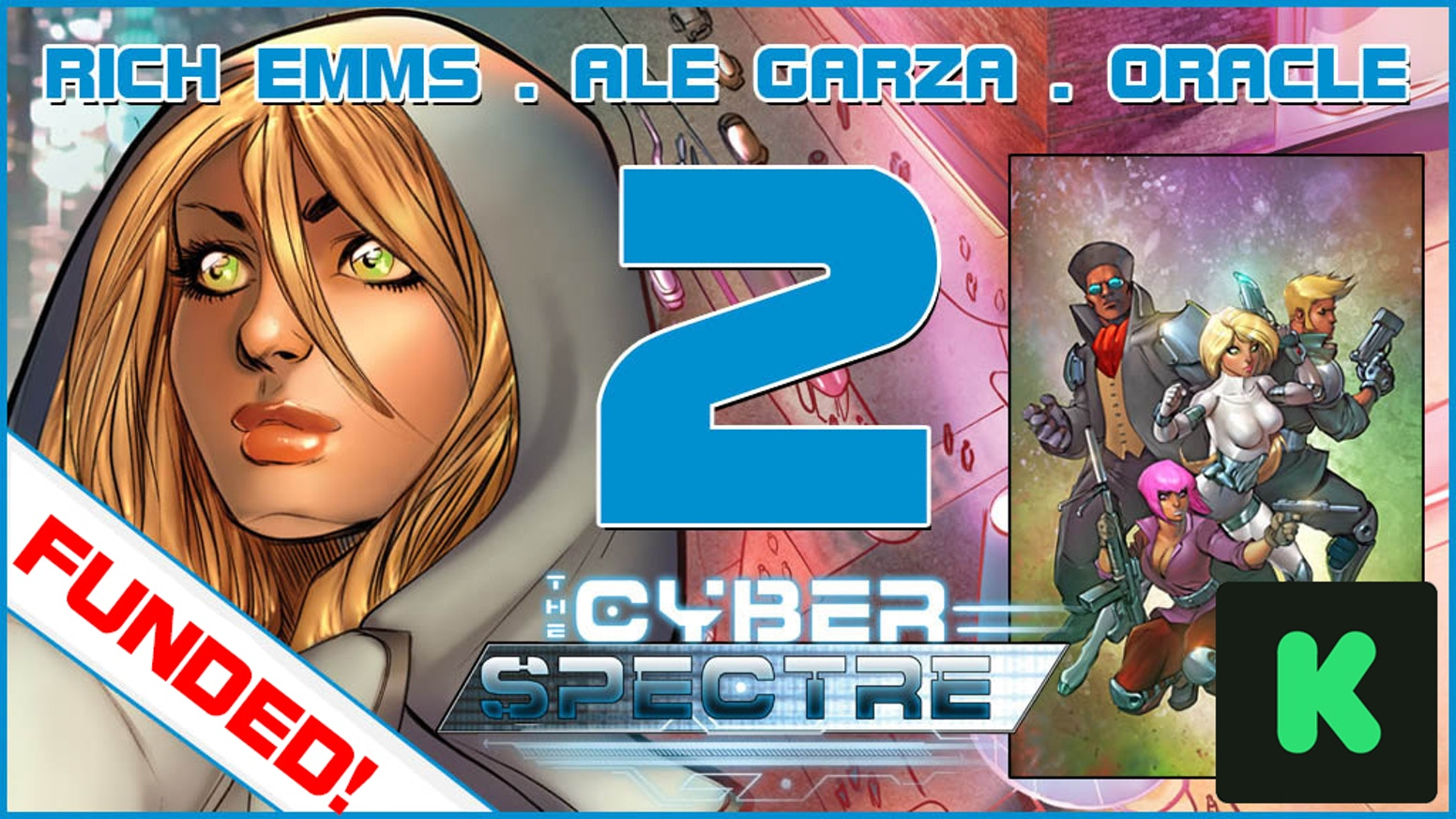 After an amazing Kickstarter Campaign in November, the Cyber Spectre team are working on the next issue -- with even more incentives!!